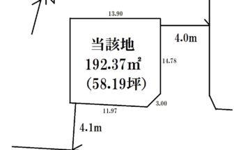 東区紫竹土地区画図