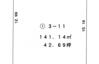 東区江南分譲地区画①区画図