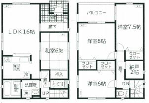 東区山木戸第3新築戸建間取図