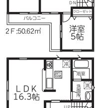 中央区女池西新築戸建2号棟間取